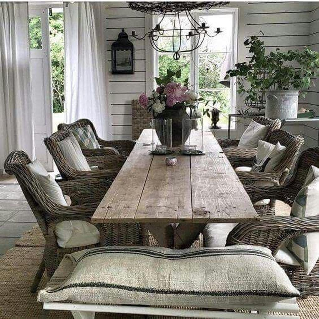 32 Stylish Dining Room Ideas To Impress Your Dinner Guests: Inspiring Cabin Style Decoration Ideas 2017 77