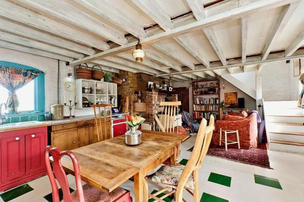 really cool quirky kitchen with images quirky kitchen eclectic home cottage in the woods on kitchen ideas quirky id=50087