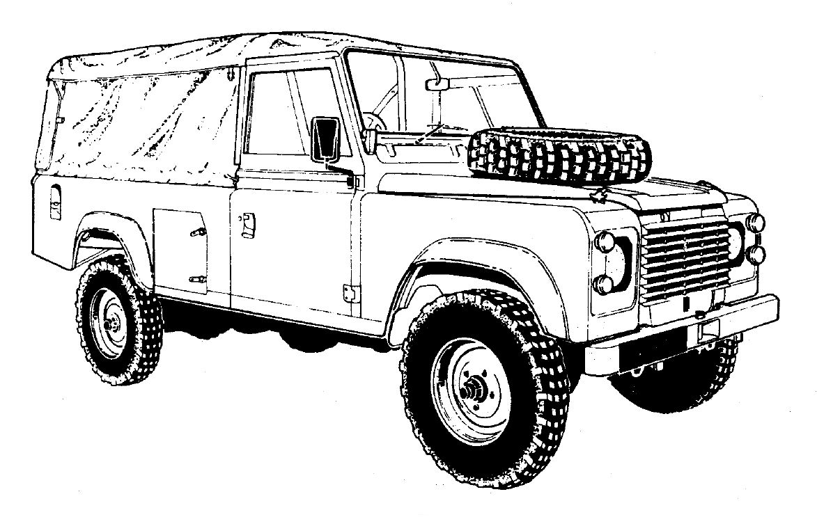 drawing of landrover defender search land rover
