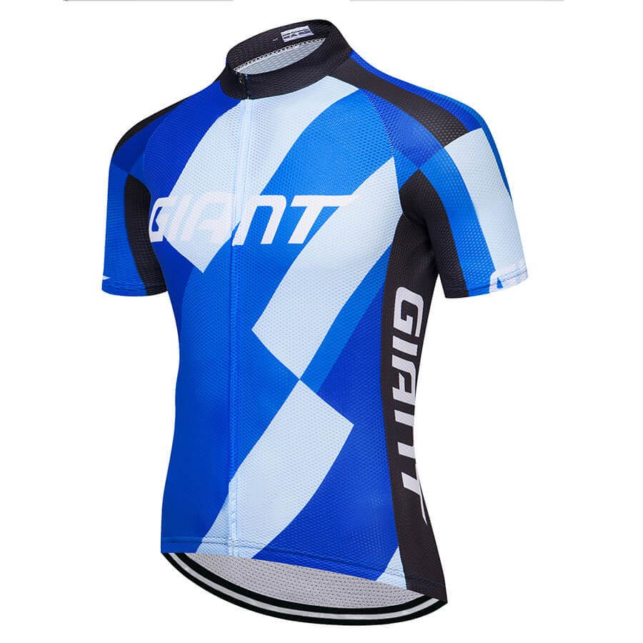 bfacf2810 2018 Team Giant Cycling Jerseys White Blue