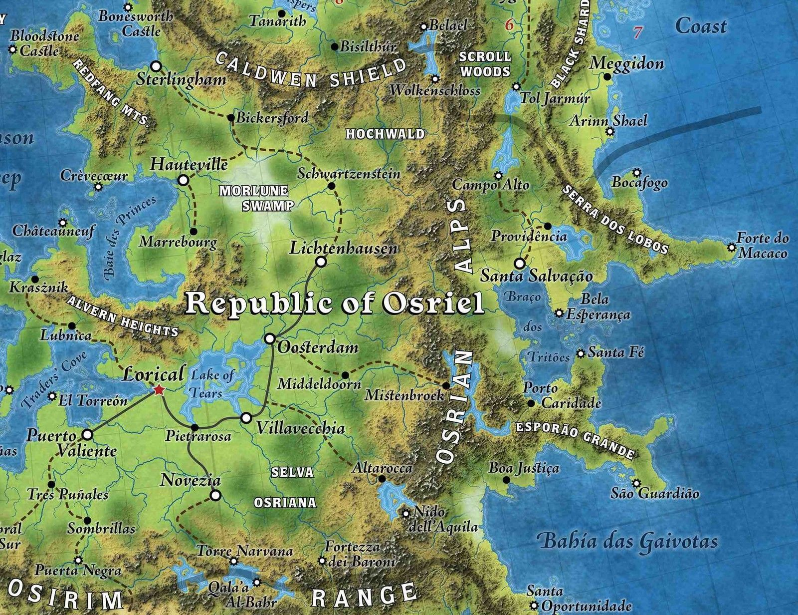 Detail of great caldera poster map from its ebay page cartography great caldera poster map role playing game accessory gumiabroncs Images