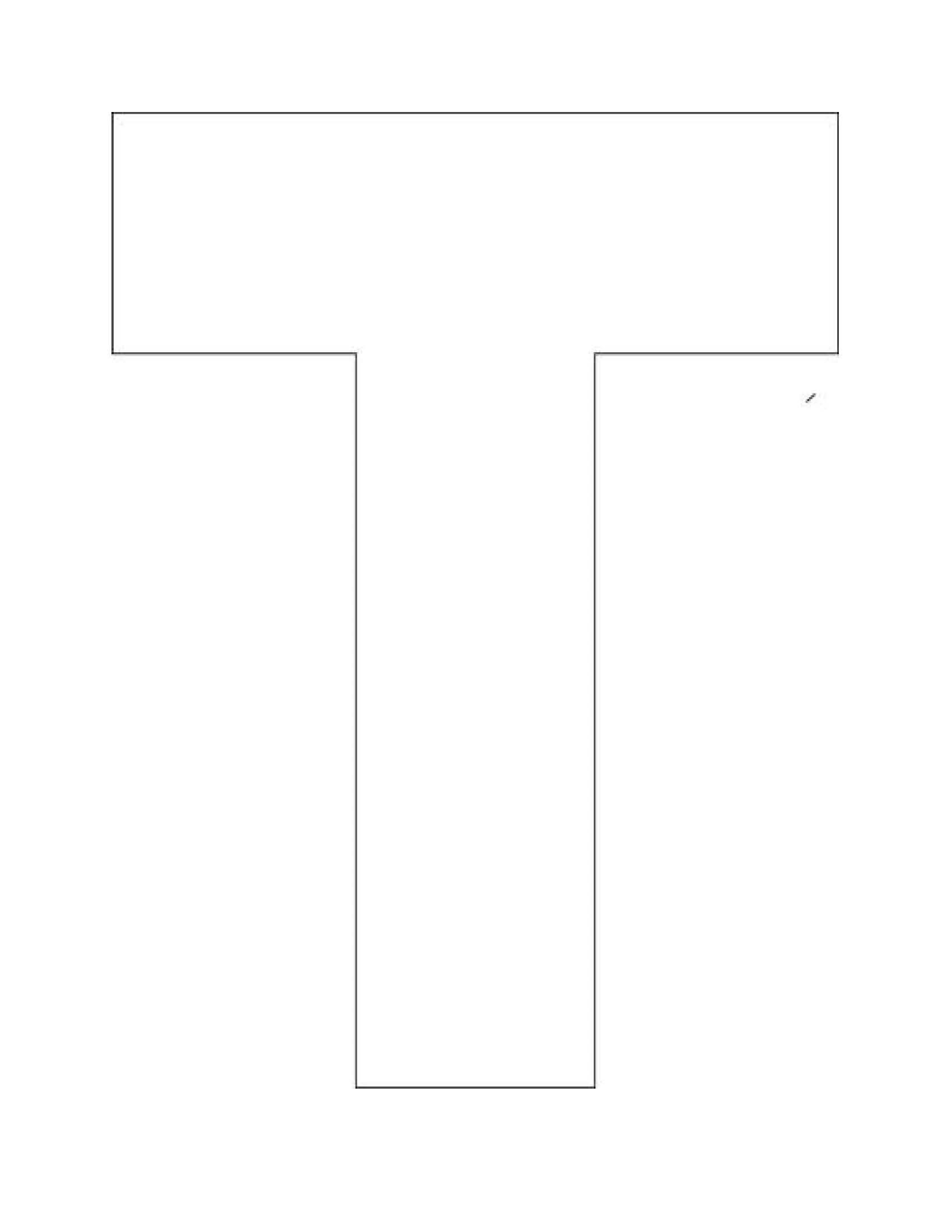 Printable Alphabet Letter T Template! Alphabet Letter T ...