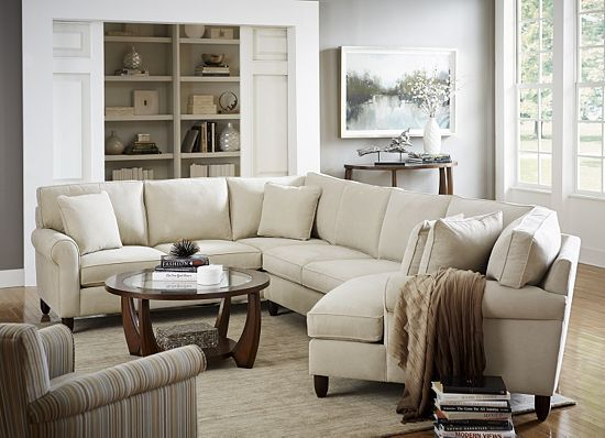 Living Rooms, Amalfi Sectional, Living Rooms | Havertys Furniture