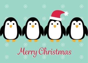 Penguin Christmas Card Christmas Cards Christmas Card Template Holiday Cards
