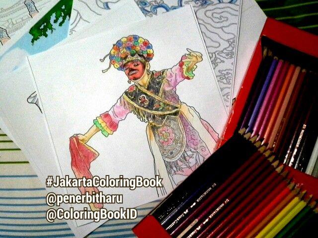 JakartaColoringBook ColoringBookID Betawi Budayaindonesia Budaya Betawiculture Indonesia Jakarta Coloringbook Adultcoloringbook Bukumewarnai