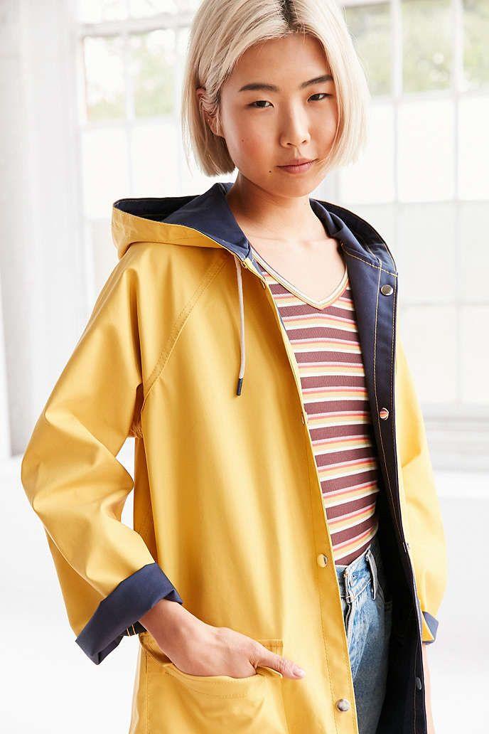 BDG Reversible Fisherman Raincoat | Raincoat, Urban outfitters and ...