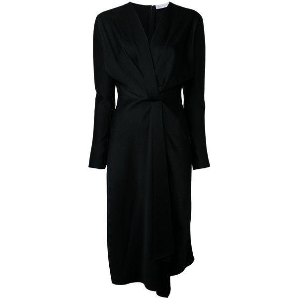 Victoria Beckham waist-wrap dress (27.265 ARS) ❤ liked on Polyvore featuring dresses, black, victoria beckham, wrap dress and victoria beckham dresses