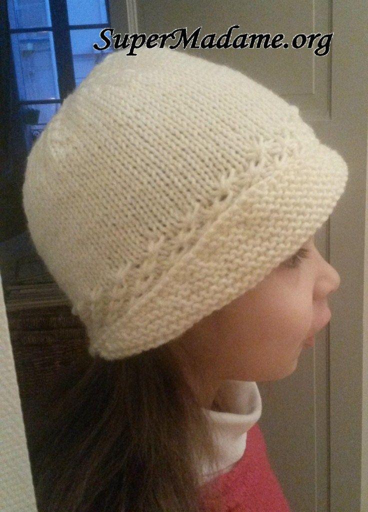 Tricoter un bonnet cloche à
