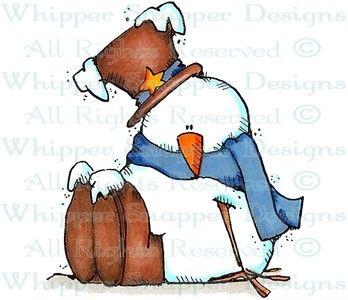 A Fresh Snowfall - Snowmen Images - Snowmen - Rubber Stamps - Shop