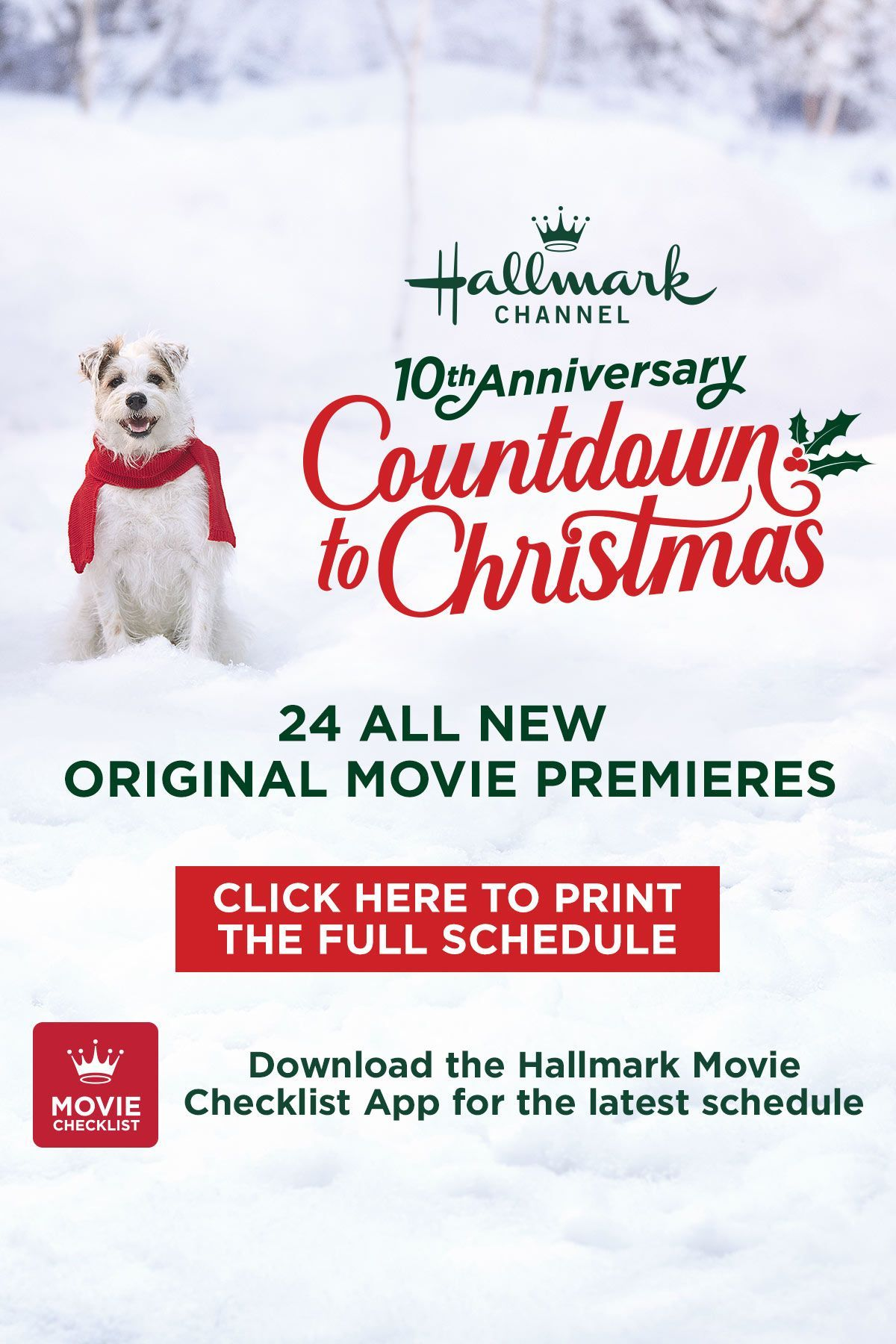 Hallmark Channel S Countdown To Christmas Celebrates Its 10th Anniversary This Seas Hallmark Channel Christmas Movies Hallmark Christmas Movies Hallmark Movies