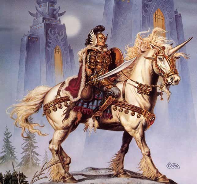 Unicornio, de Clyde Caldwell
