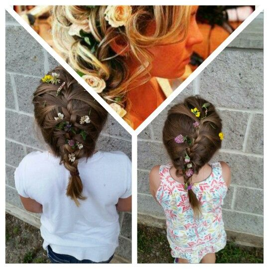Me and my bffs are braiding hair at a BBQ lol