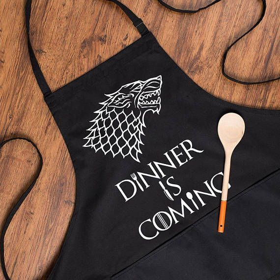Game Of Thrones Aprons Dinner Is Coming Mens Kitchen Apron
