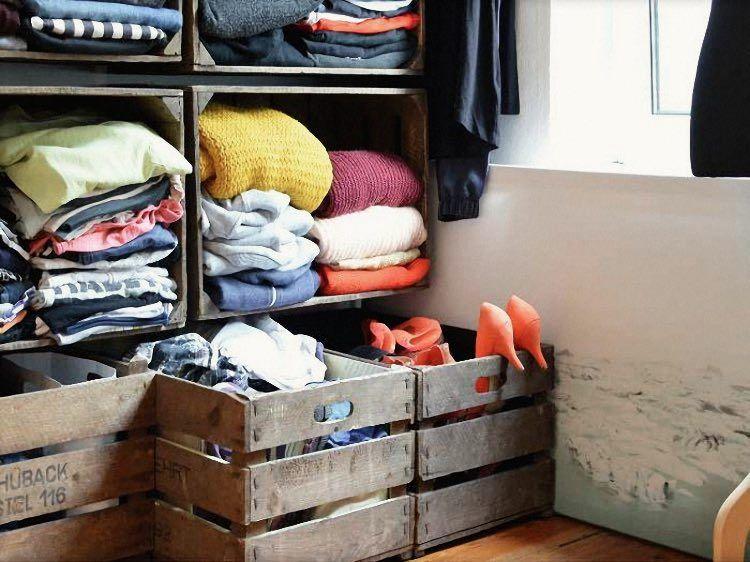 Diy Anleitung Kleiderschrank Aus Alten Obstkisten Bauen Via