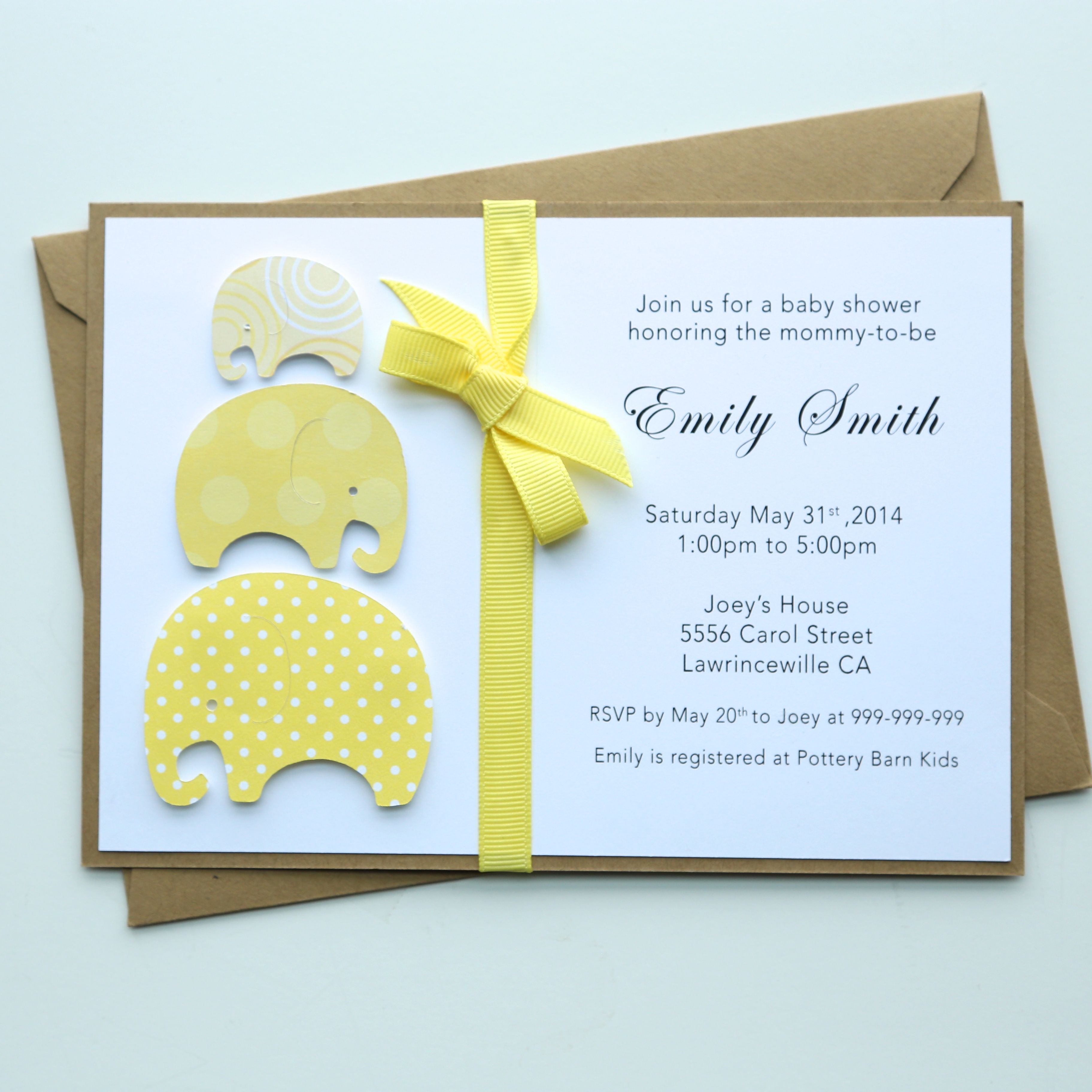 Handmade Baby Shower Invitation