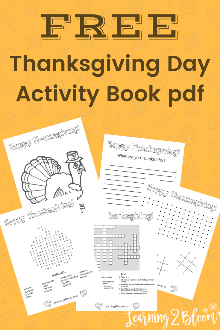 thanksgiving day activity book thanksgiving activities and