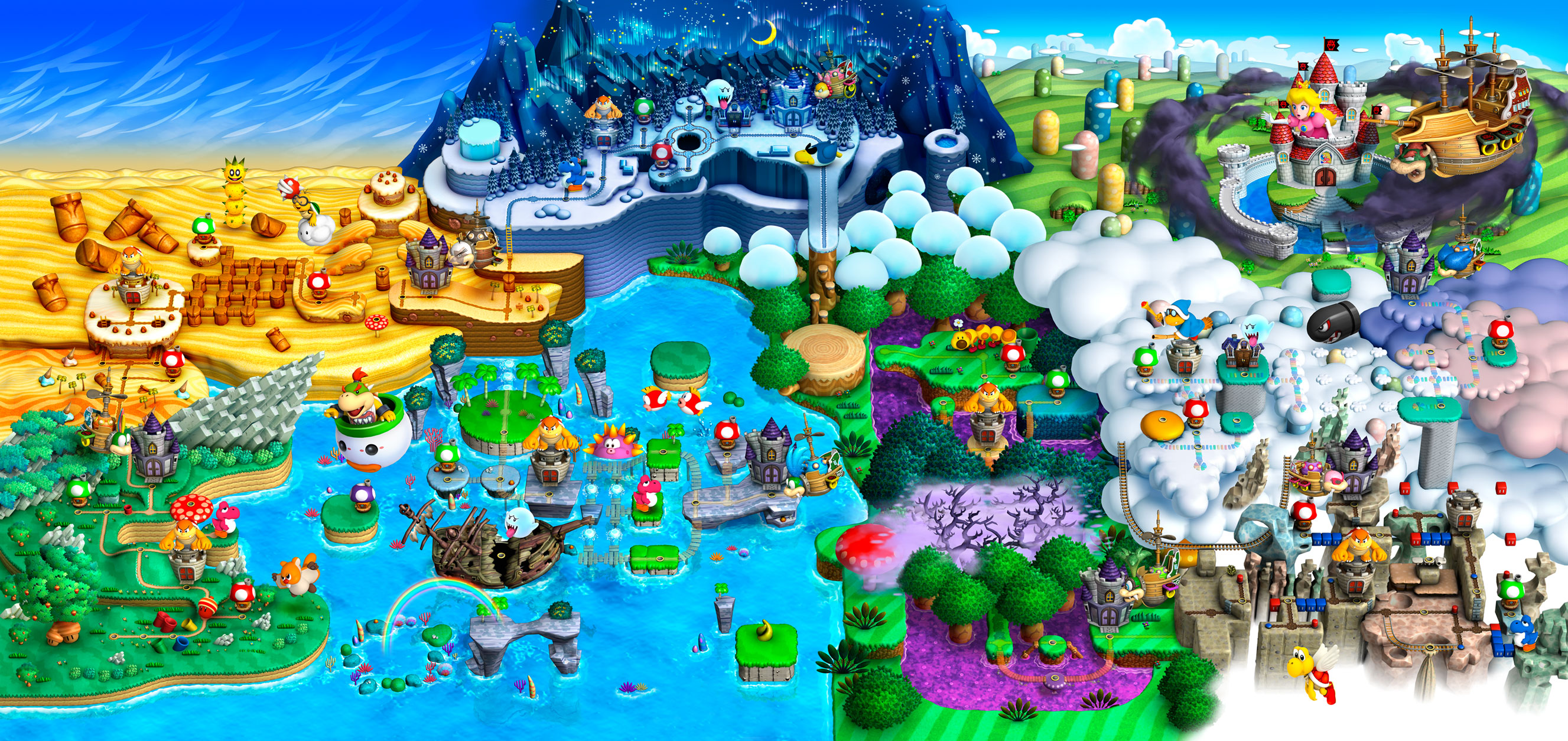 I love this fanart of super mario gaming pinterest fanart new super mario bros overworld this part will be added near the top of the main continent with the different worlds rearranged a bit gumiabroncs Images