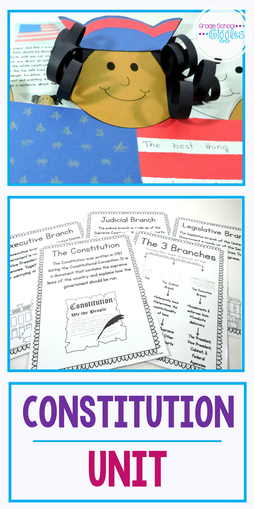 Teaching about the Constitution of the United States of America [ 1700 x 850 Pixel ]