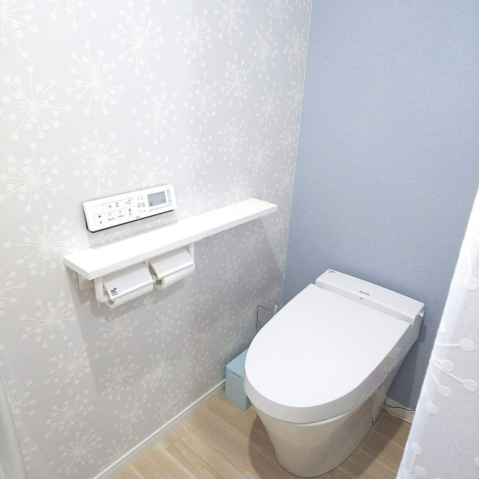 バス トイレ クッションフロア サンゲツ ブルー系 ブルーの壁 などのインテリア実例 18 01 25 16 21 Roomclip ルームクリップ サンゲツ クッションフロア トイレ クッションフロア トイレのアイデア