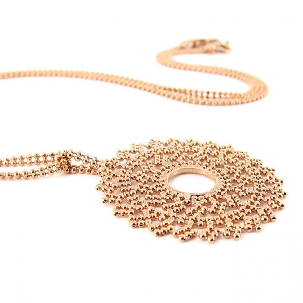 Gold Sun Pendant by Carolina Bucci