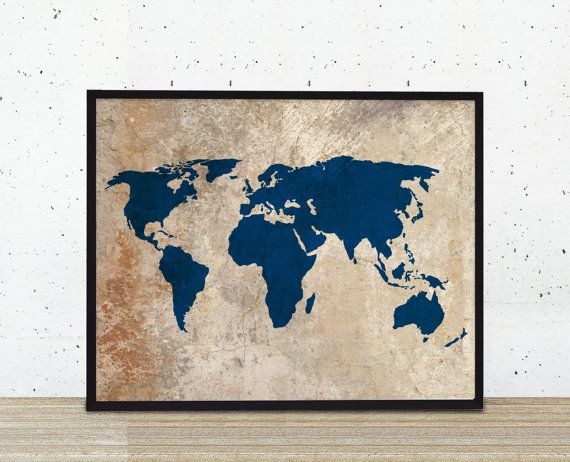 Rustic world map art print rustic vintage style by bysamantha rustic world map art print rustic vintage style by bysamantha gumiabroncs Image collections