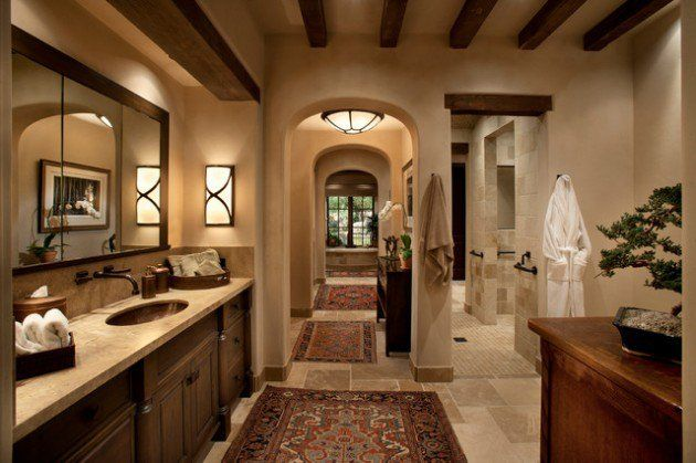 15 Luxury Mediterranean Bathroom Designs Mediterranean Bathroom