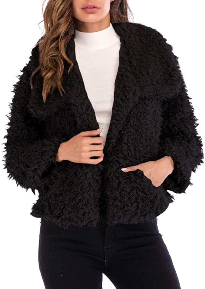 Nanomi Beauty Womens Casual Faux Fur Winter Jacket Open Front Short Coat Outerwear With Pockets Want To K Casual Faux Fur Coats For Women Jackets For Women [ 1200 x 851 Pixel ]