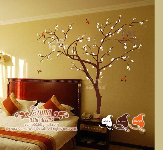 Cherry blossom tree wall decals Birds and Tree wall decal Nursery ...