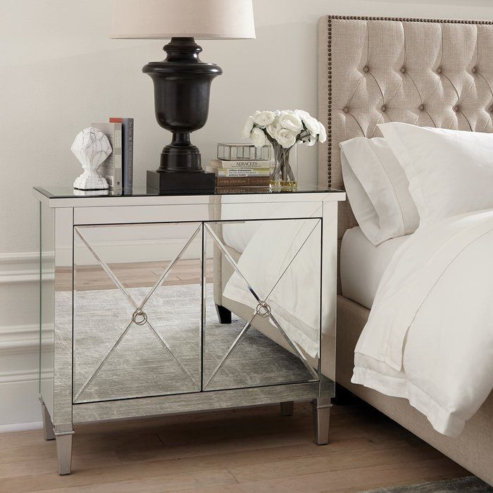 Nightstand Home Decor Styles Mirrored Nightstand Furniture