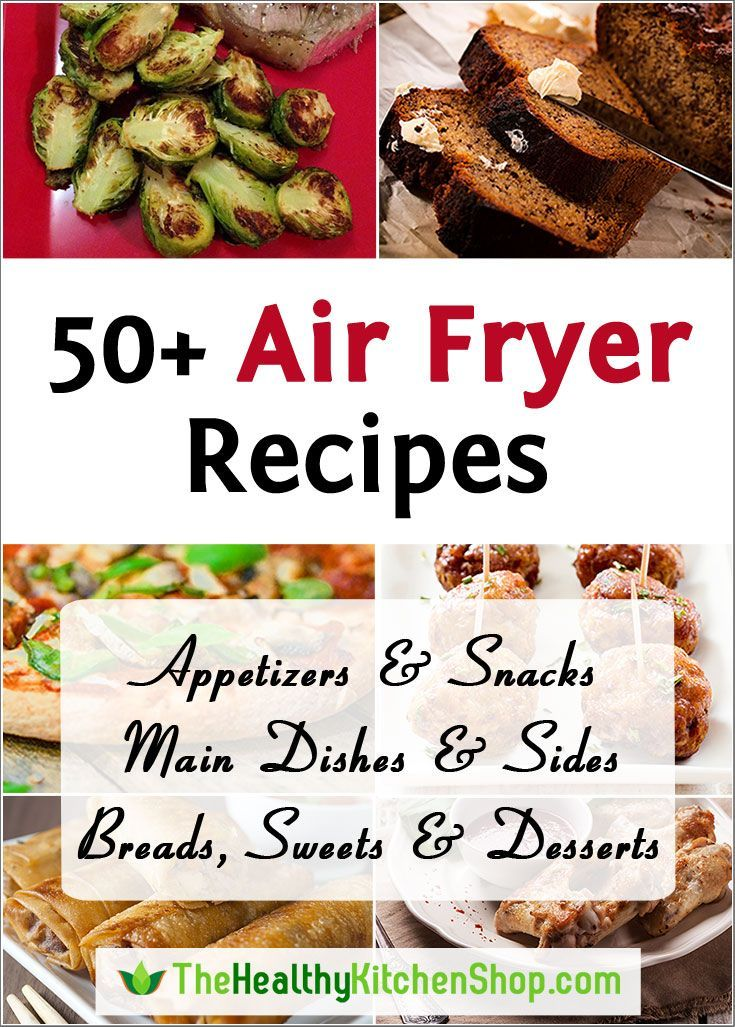 """50+ Air Fryer Recipes at http://thehealthykitchenshop.com - And if you don't yet have an air fryer, we've done the research for you! Visit our site to read detailed reviews of the best selling models, or see them all on our Air Fryer Comparison Chart. Happy healthier """"frying""""!"""