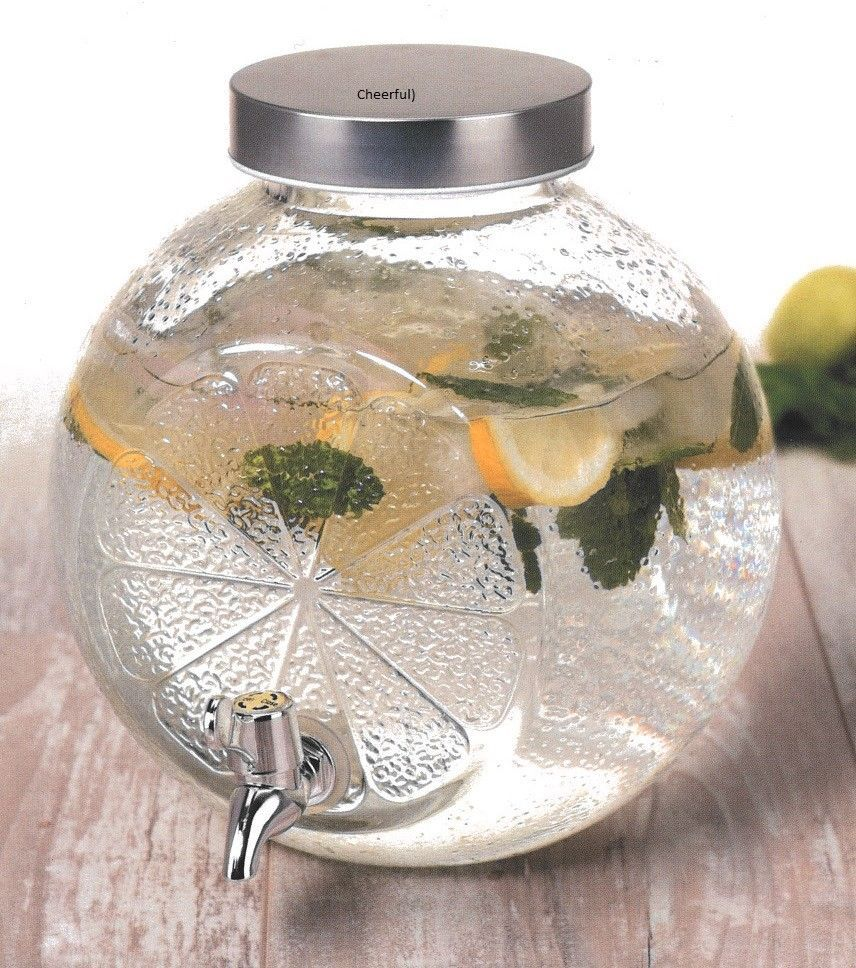 5 Litre Glass Drink Dispenser With Tap Unique Design Round Drink Dispenser Koop Glass Beverage Dispenser Drink Dispenser Glass