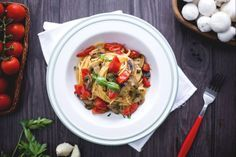 Photo of Spaghetti with cherry tomatoes and champignons