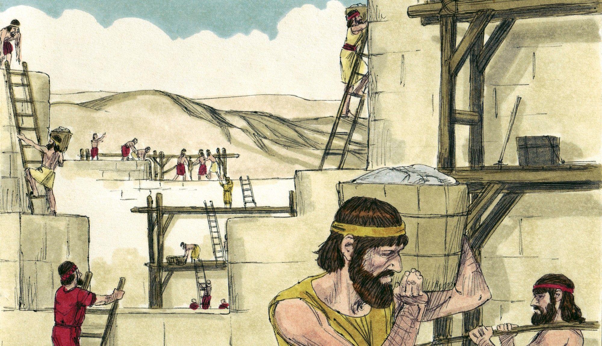 Bible Lesson: Repairing the Wall (Nehemiah 3-4)   Church craft ...