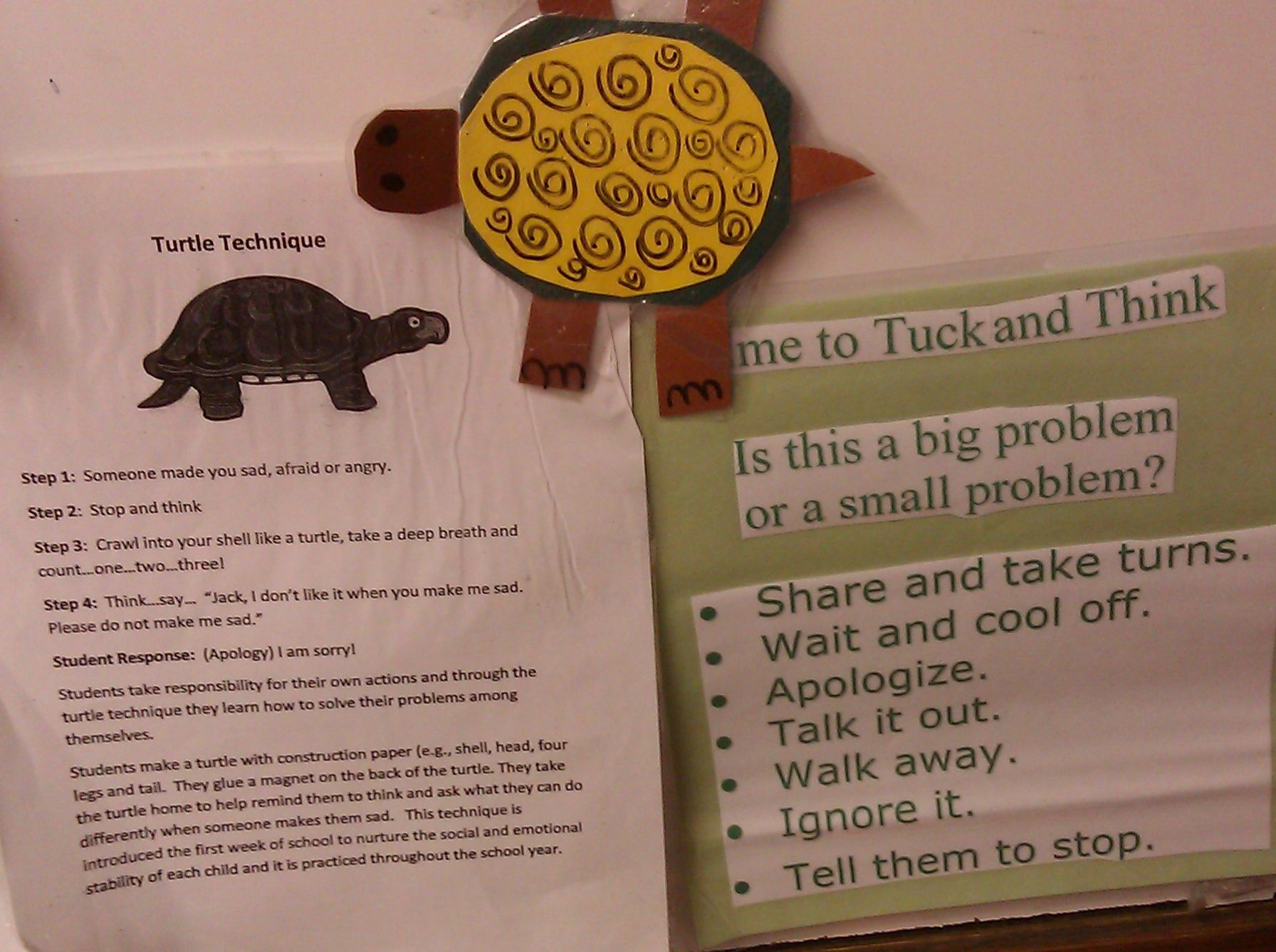 The Turtle Technique A Problem Solving Strategy For Young