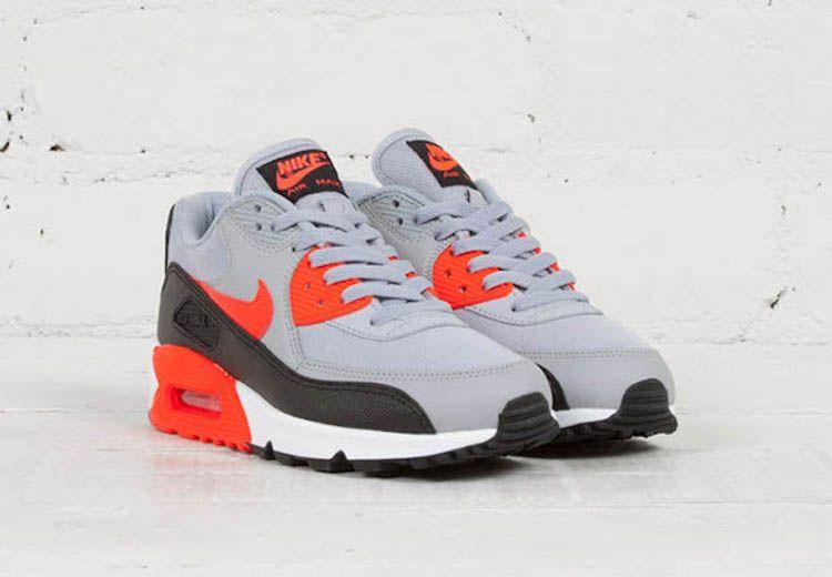 Women's Nike Air Max '90 Essential Wolf Grey Infrared B