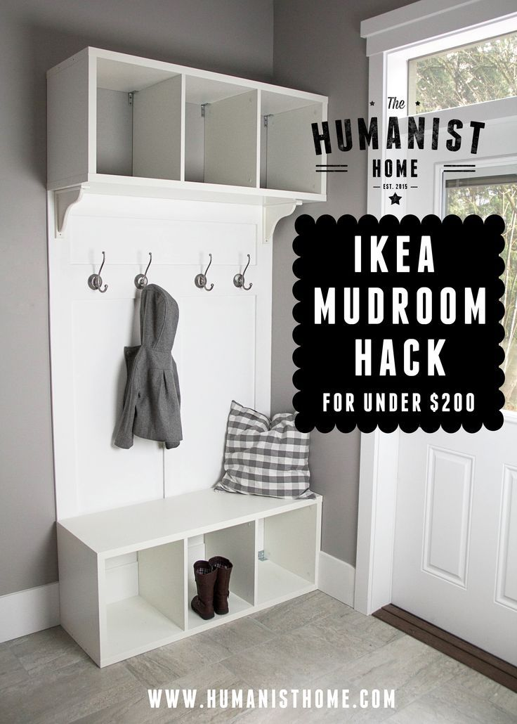 Diy Mudroom Bench And Storage From Ikea Stolmen Units For Under 200 Pinforlater Pinoftheday