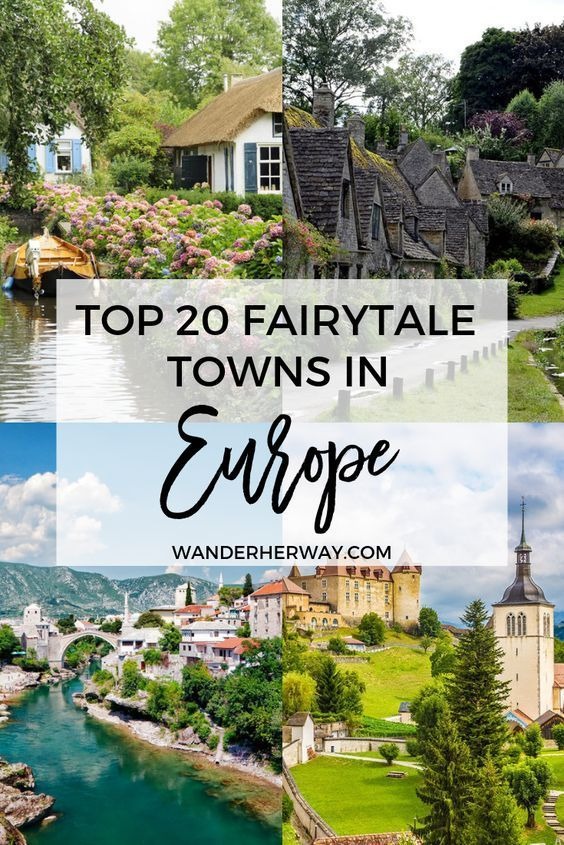 Prettiest towns in Europe to add to your bucket list - these towns look like they're straight out of a fairytale! Ultimate list of Europe Travel Destinations to add to your bucket list. These Europe travel destinations are perfect for Summer or Winter and are sure to be added to your top 10 cities to visit list immediately! #europe #travel