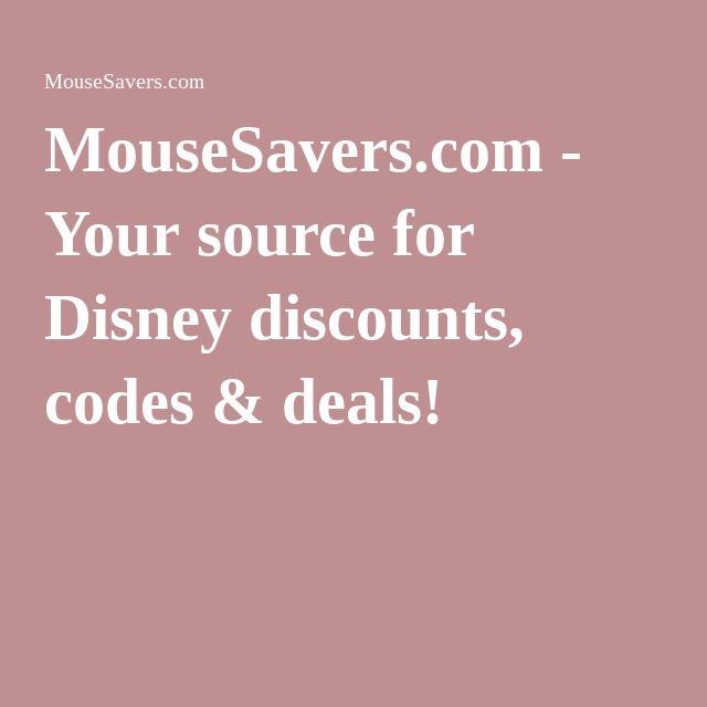MouseSavers.com - Your source for Disney discounts, codes & deals!