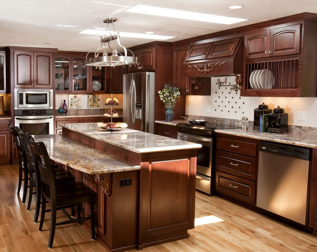 Wooden Italian Kitchen Decor Decorations Ideas
