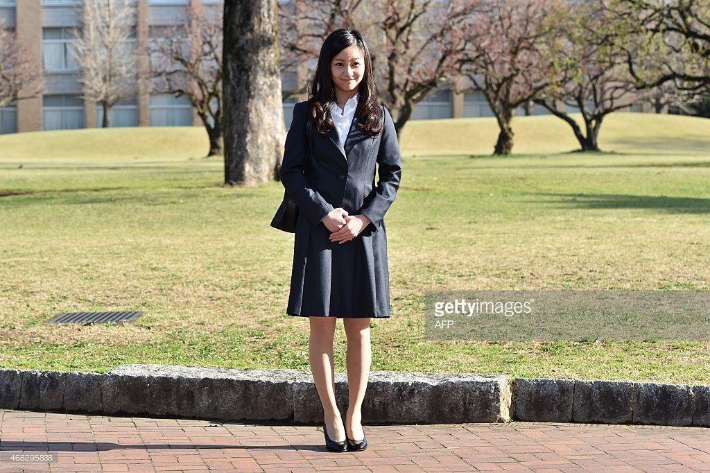 Japanese Princess Kako younger daughter of the Emperor's second son Prince Akishino arrives at...