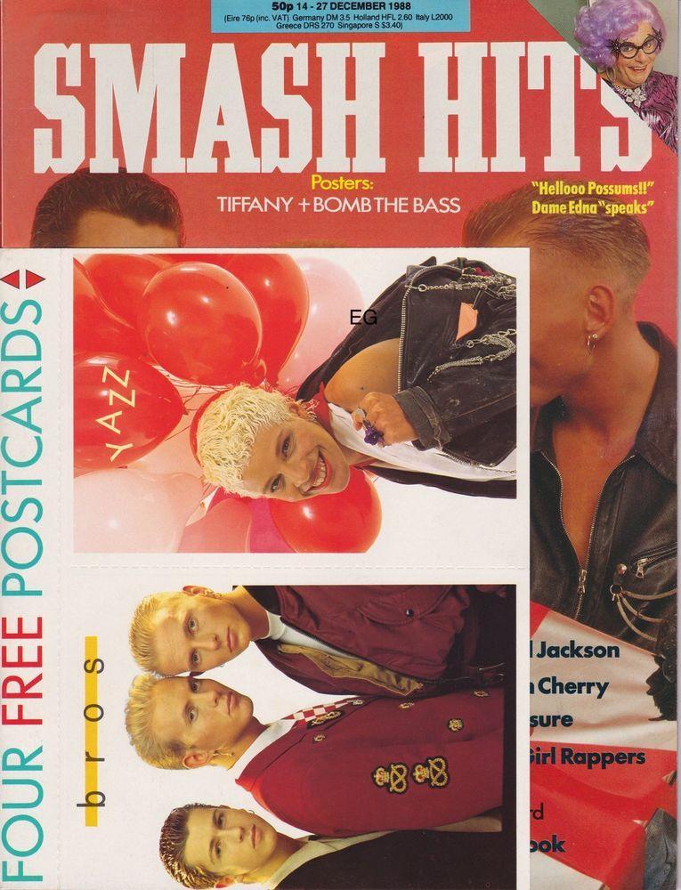 SMASH HITS MAGAZINE BROS DEC 88 (With images) Free