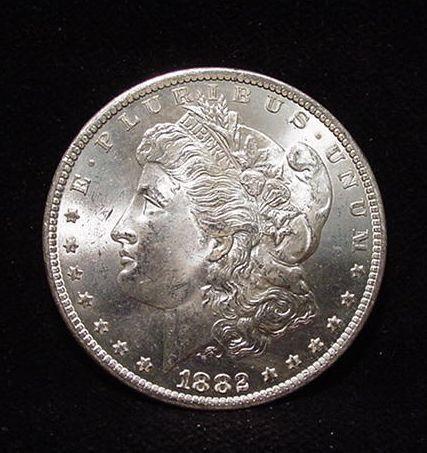 Carson City Mint 1882 Cc Morgan Silver Dollar Icy White Chbu Morgan Silver Dollar Morgan Dollars Carson City