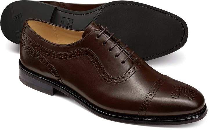 f16dd682f2cd70 Charles Tyrwhitt Chocolate Oxford Brogue Toe Cap Shoe Size 11.5 ...