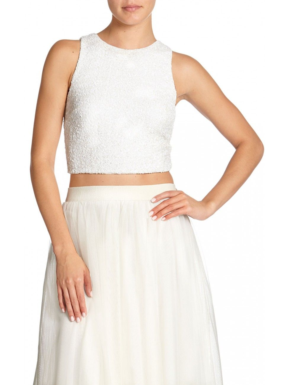 Sequined crop top - Bailey44 Holiday Collection