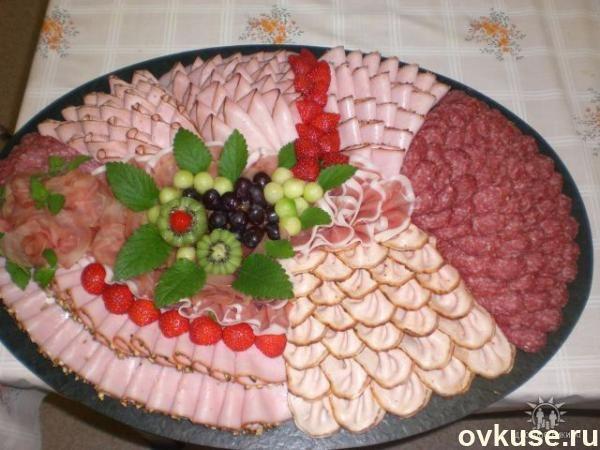 Нарезка на праздничный стол ( мясная, сырная ) - Простые ...