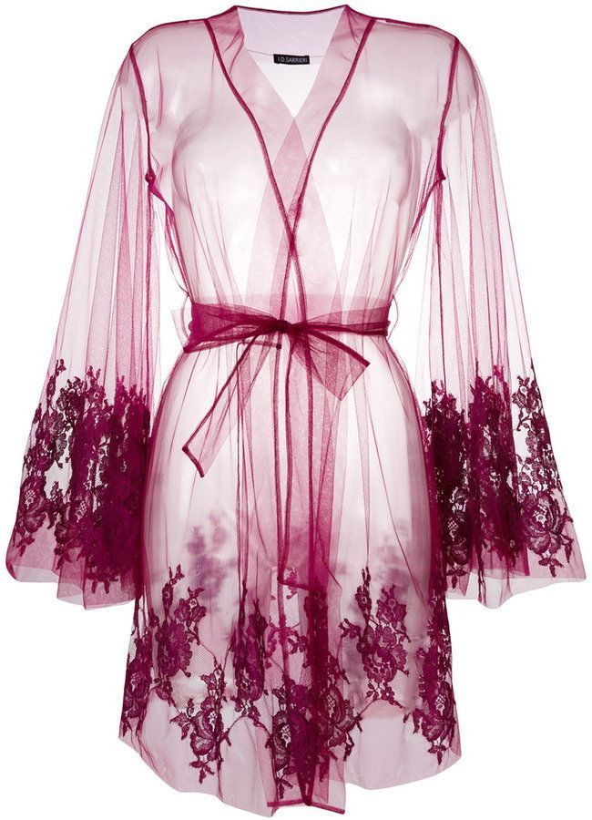 I.D. Sarrieri lace-embroidered Night Gown