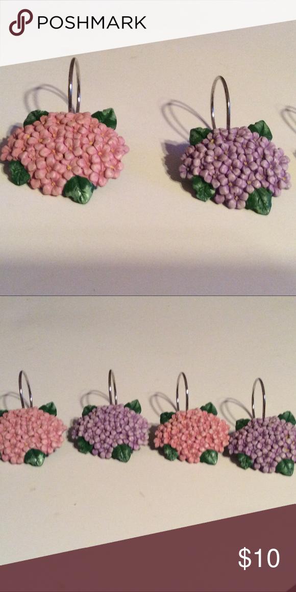 Curtain Hooks Curtain Hooks Flower Curtain Hydrangea Flower