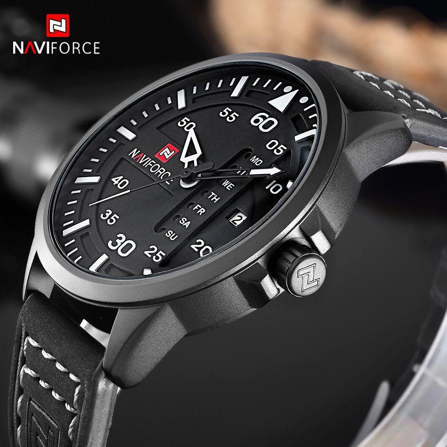ba436b1afe0 Barato Naviforce moda casual mens relógios top marca de luxo relógio de  pulso de quartzo relógio