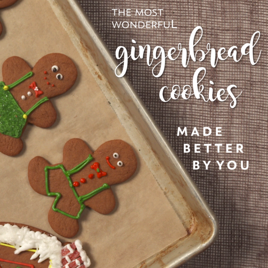 The Most Wonderful Gingerbread Cookies #cookies