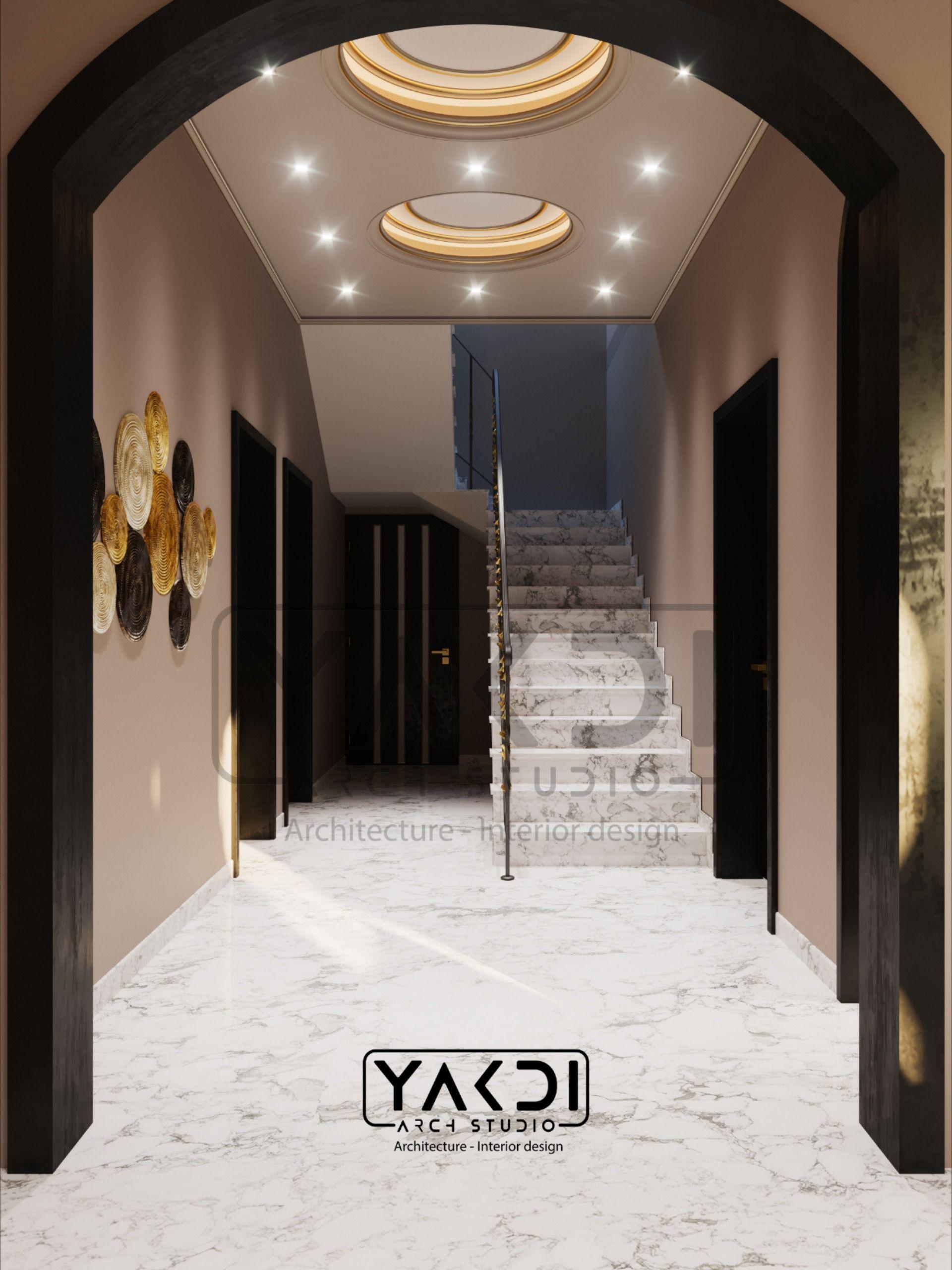 Corridor Stairs درج Interior Architecture Design Hall Interior Studios Architecture